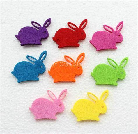 felt applique 100pcs lot rabbit felt patch animal figure fabric
