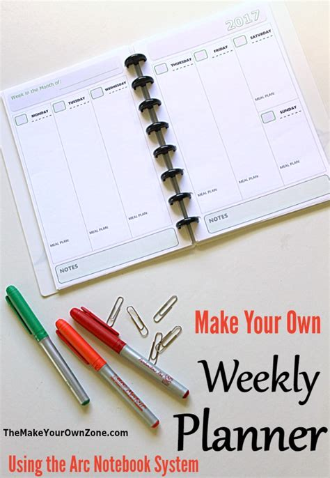 build your own planner make your own planner with the arc notebook system