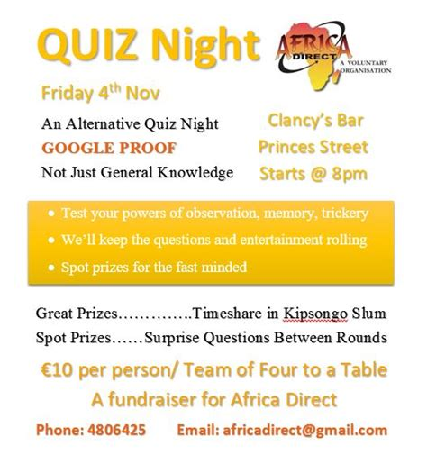 quiz questions kenya quiz night africa direct