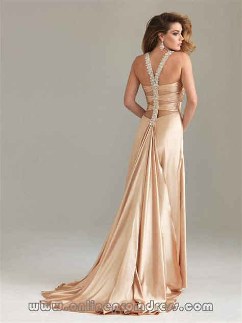 Dress champagne color   All Women Dresses
