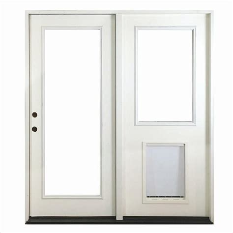 Center Hinged Patio Doors Steves Sons 60 In X 80 In White Prehung Primed Right Fiberglass Inswing Center Hinged