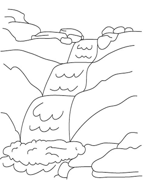 waterfall coloring pages waterfall 5 nature printable coloring pages