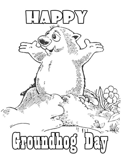 Groundhog Day Coloring Pages Free Printable Az Coloring Groundhog Day Coloring Page