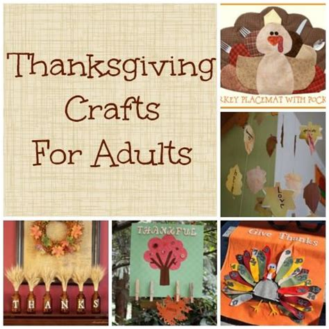 thanksgiving crafts for adults craft ideas pinterest
