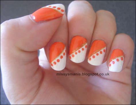 easy nail art orange and black 60 stylish orange nail art designs