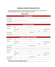 Employee Personal Information Sheet by 7 Employee Personal Information Form Sle Free