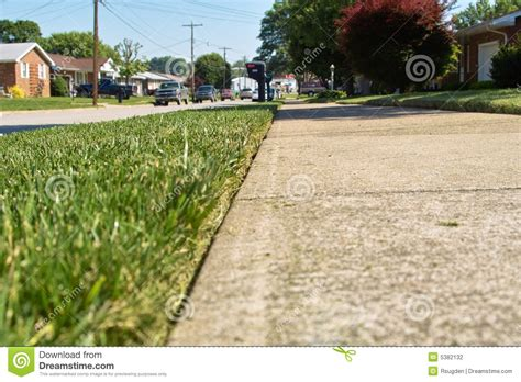 Landscape Edging Along Sidewalk Lawn Edging Stock Photography Image 5382132