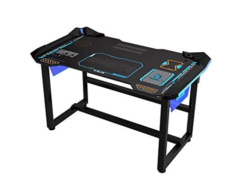 Gaming Desk Cheap Cheap E Blue Usa Wireless Glowing Led Pc Gaming Desk Table Medium Egt511 Reviews Pc Gaming