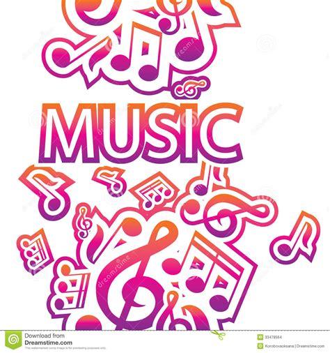 univision musica uforia m sica videos musicales ejemplo de notas musicales ilustraci 243 n del vector imagen