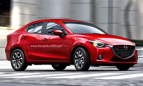2015 mazda2 demio sedan rendered autoevolution