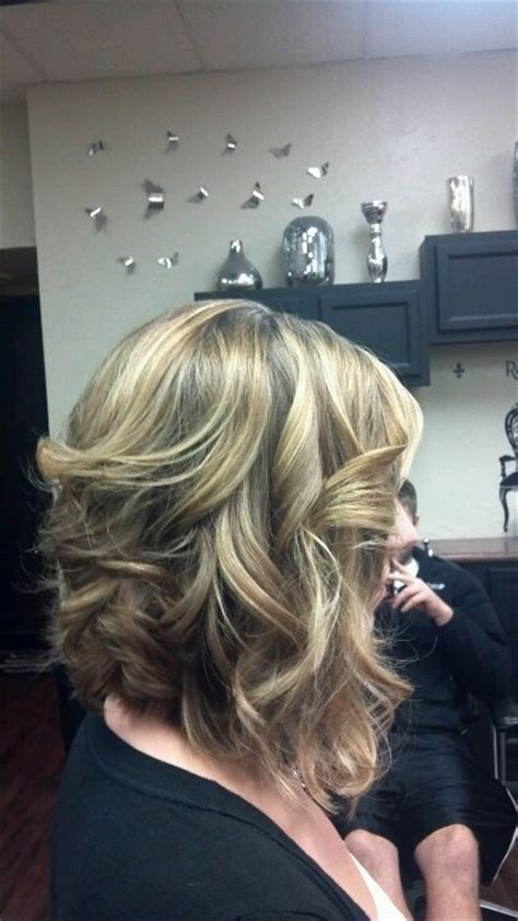 inverted layers in hair curled long inverted bob beauty pinterest my hair