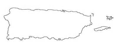 Mapa Puerto Rico sketch template