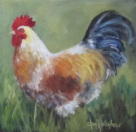 rooster colors rooster of color painting by cheri wollenberg