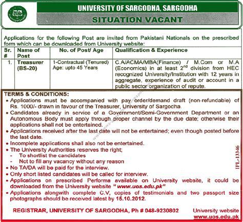Mba Internships Sargodha by Uos Sargodha For Treasurer 2012