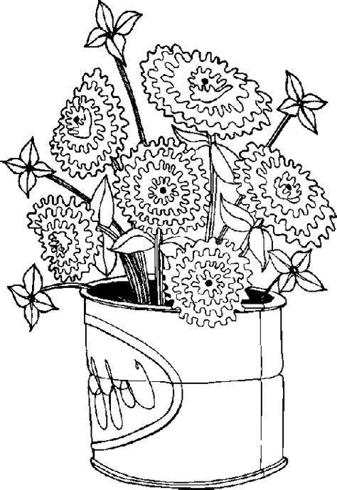 Coloring Page Flower Pot by Flower Pot Coloring Page Bestappsforkids