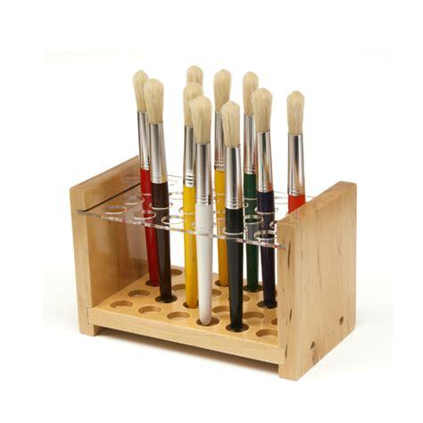 brush holder rolfes 174 wooden paint brush holder artistwarehouseonline