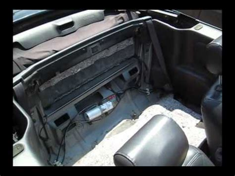 refilling  sebring convertible hydraulic top pump youtube