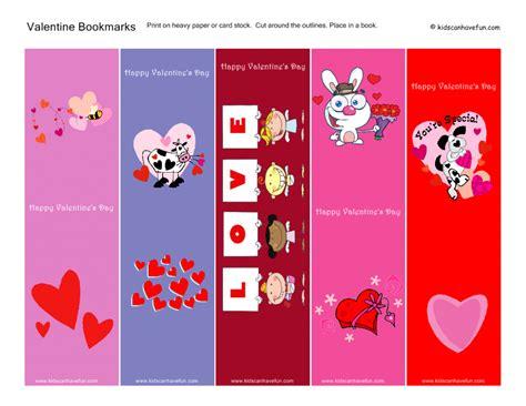 valentines bookmarks s day printables kidscanhavefun