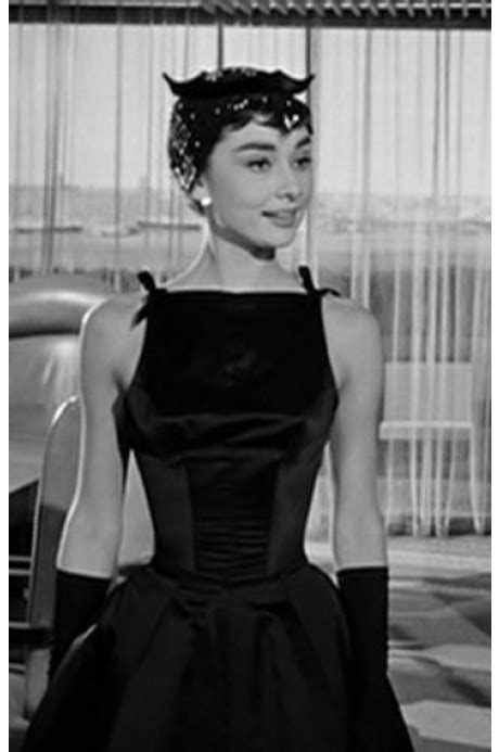 Dress Worn By Hepburn Sold For 920000 by Hepburn In Sabrina 1954 Black Low Back Prom Dress