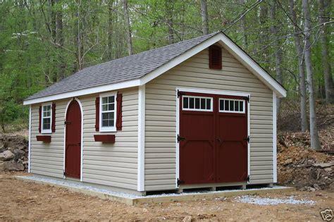 amish built   frame vinyl storage shed  upgraded