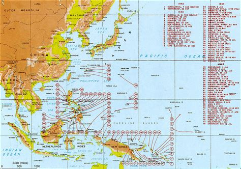 pacific war map pacific war
