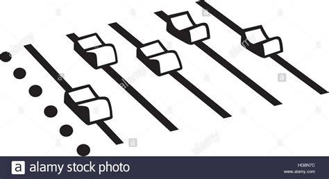 console mixer dj dj mixing console stock vector illustration vector