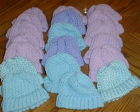 loom knit baby hat karens crocheted garden of colors loom knitted baby hats