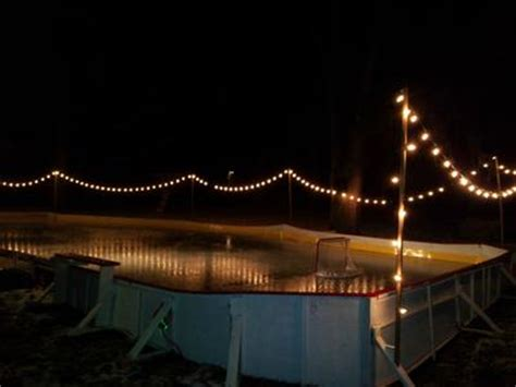 backyard rink lighting central ohio rink on a sloped backyard