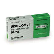 Dulcolax 10 Suppos laxative stool softners and cathartic bisacodyl generic