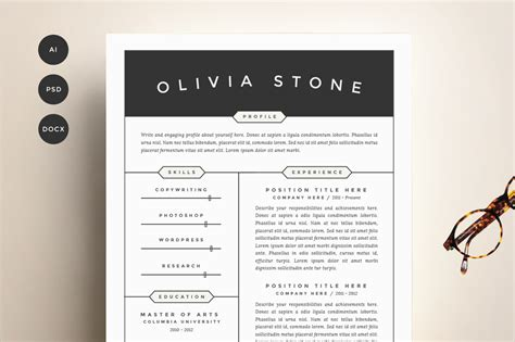 Resume Cv Template 4 Pack by Resume Templates That Get You Hired Sle Resume