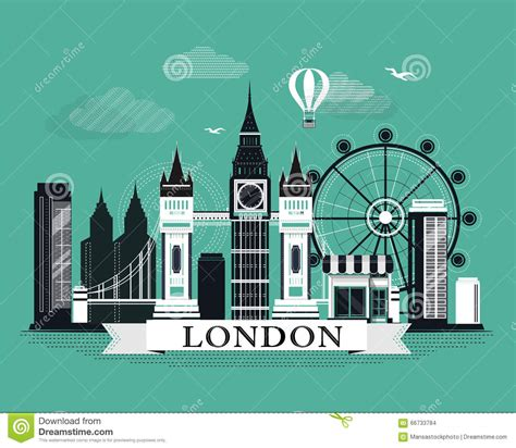 poster design london cool graphic london city skyline poster with retro looking