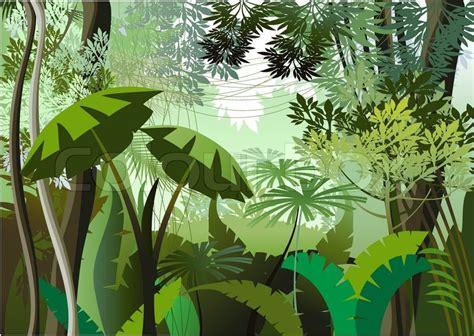 dschungel pflanzen overgrown pflanzen im dschungel vektorgrafik colourbox