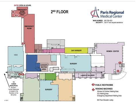 Layout Hospital | hospital layout maps paris regional medical center