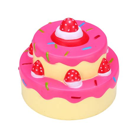 squeeze squishy stress toys squishies soft rising 2 layers strawberry cake ebay