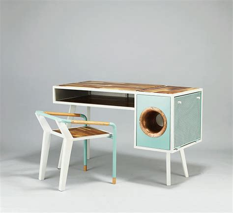 coolest desk cool soundbox desk for smartphone home design and interior