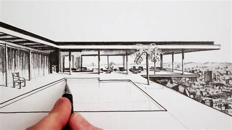 modern house drawing how to draw a modern house time lapse youtube