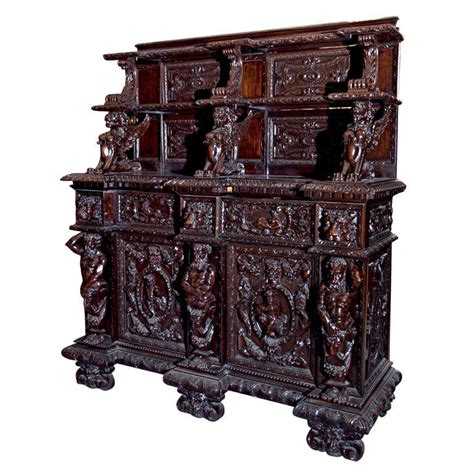 united house wrecking heavily carved walnut server at 1stdibs