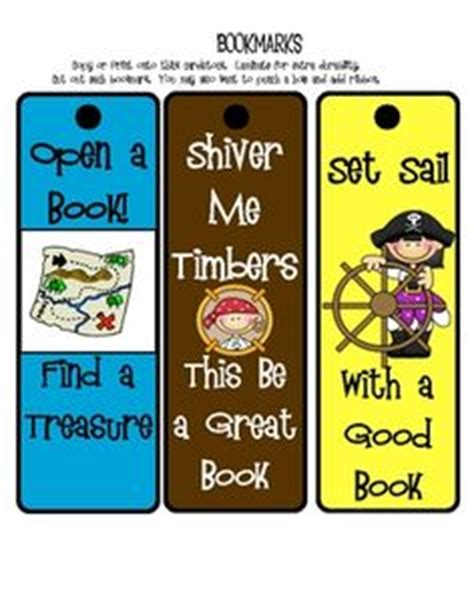 printable pirate bookmarks pirates on pinterest pirate day pirates and pirate theme