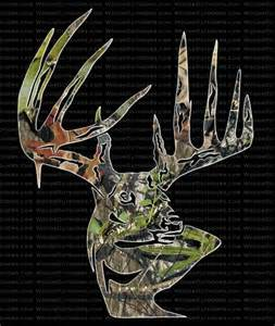 Bow Hunting Window Decals mossy oak break up typical buck head deer hunting window