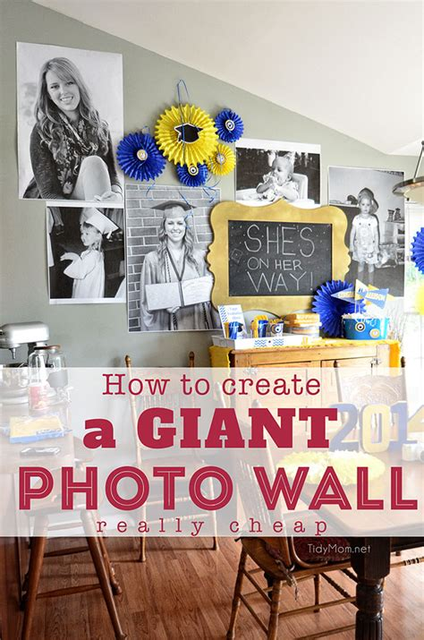 photo wall for really cheap tidymom 174