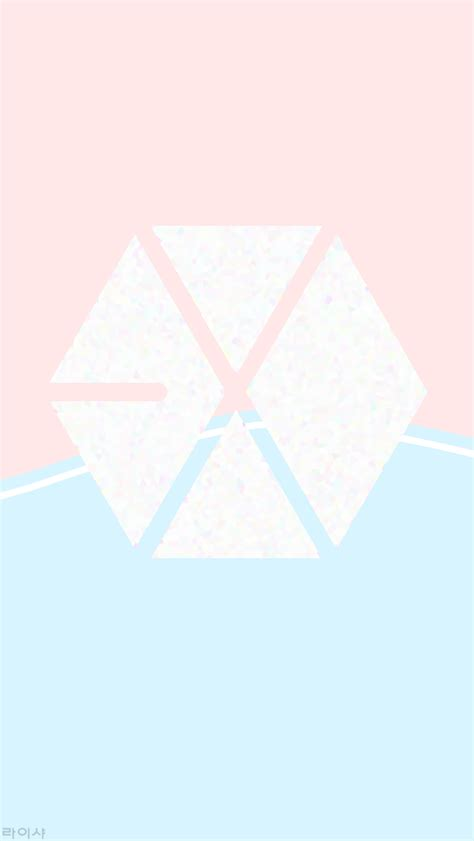 exo logo wallpaper for iphone hq wallpapers