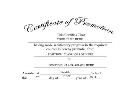 certificate of promotion template geographics certificates free word templates clip
