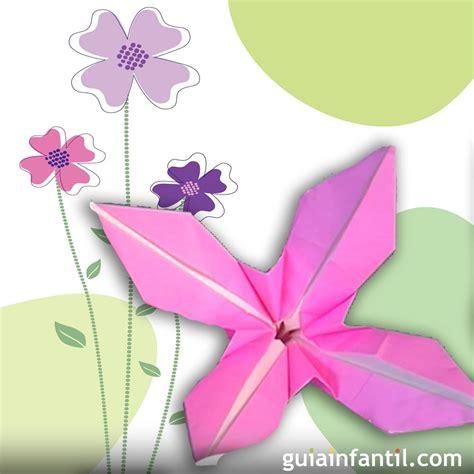 floreros para una flor una flor de papel c 243 mo hacer origami