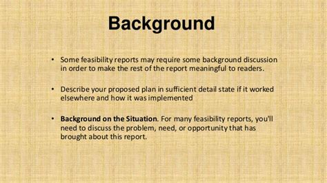 How To Make Background Of The Study In Research Paper - feasibility report basic concepts with exle