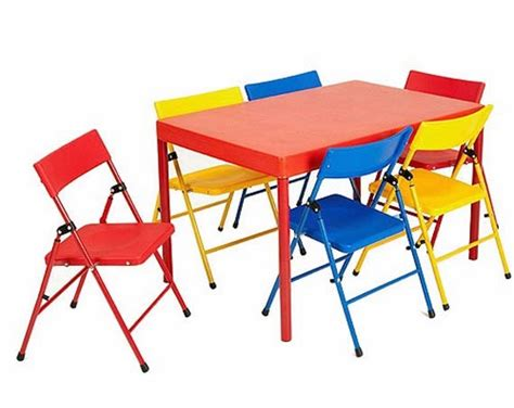 Toddler Folding Table And Chairs Toddler Folding Table And Chairs Colorful 5 Folding Table And Chair Set Jb 9 Kid Gg Ebay