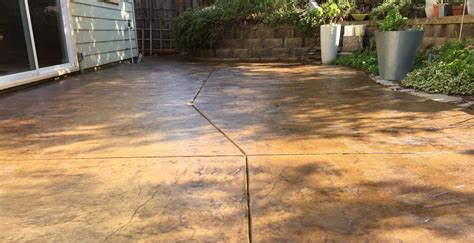 Concrete Patio Stain Colors - concrete stain and sealer patio makeover concrete exchange