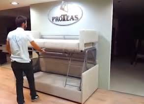etagenbett mit sofa tiny house furniture sofa to bunk bed in 14 seconds