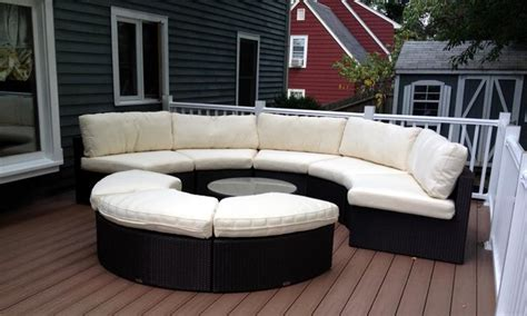 round patio sectional round outdoor wicker sectional couch set traditional