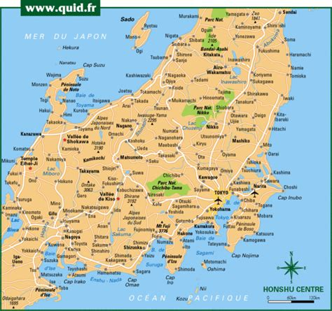 Map of honshu
