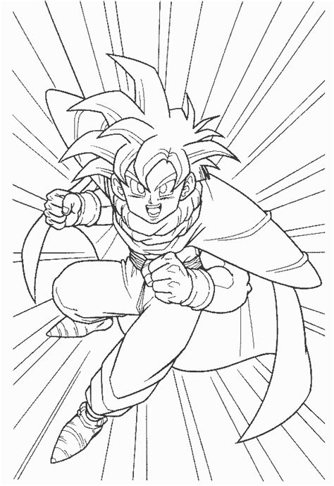 www full gohan coloring pages printable gohan coloring pages kids